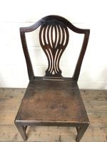 Set of Four Welsh Oak Farmhouse Chairs (4 of 10)
