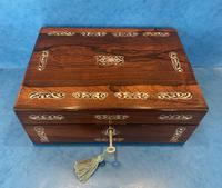 William IV Mother Pearl Inlaid Rosewood Box (4 of 12)