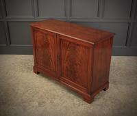 Solid Mahogany Inlaid Low Side Cabinet (12 of 16)