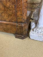 19th Century French Burr Walnut Commode with Marble Top (5 of 9)