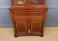 Edwardian Inlaid Mahogany Secretaire Bookcase (6 of 21)