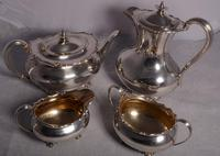 A Heavy George V Four Piece Silver Tea Service by Henry Atkin, Sheffield 1921/1922.