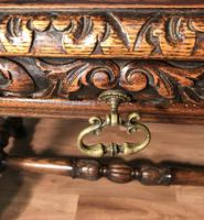 Victorian Carved Oak Library Table (17 of 25)