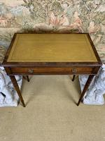 Small Mahogany Leather Topped Writing Table (5 of 5)