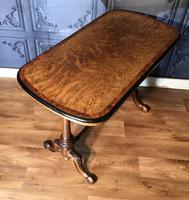 Victorian Burr Walnut & Amboyna Centre Table (4 of 14)