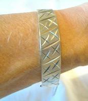 "Vintage Sterling Silver Bangle 1976 Ornate Ladies Bracelet Heavy 30 5 Grams 7"" Length (11 of 11)"