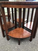 Edwardian Mahogany Round Nest of 5 Tables (6 of 9)