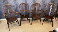 Set of Four Ash & Elm Windsor Chairs