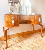 Burr Walnut Dressing Table / Vanity / Sideboard (3 of 6)