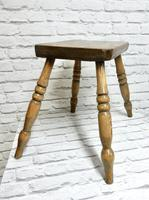 Antique 4-leg Country Stool (4 of 6)
