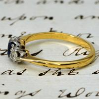 The Vintage Sapphire & Two Diamond Ring (2 of 4)