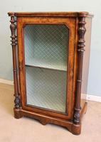 Antique Victorian Burr Walnut Display Cabinet (9 of 9)