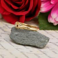 The Antique 1915 Three Garnet & Two Diamond Ring (4 of 5)