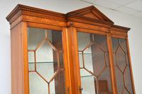 Antique Burr Walnut Breakfront Bookcase / Display Cabinet (5 of 10)