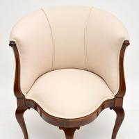Antique Inlaid Mahogany Tub Chair (6 of 11)