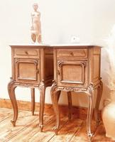 French Antique Bedside Tables / Marble Bedside Cabinets / Louis XV Nightstands (5 of 10)