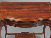 Victorian Inlaid Rosewood Serpentine Card Table (7 of 14)