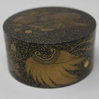 Antique Japanese Meiji Gilt & Black Lacquer Lidded Box (4 of 15)