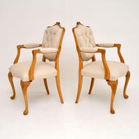 Pair of Antique Walnut Salon Armchairs (11 of 12)