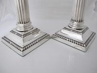 Handsome Pair of George V Silver Candlesticks Hawksworth Eyre & Co Sheffield 1915 (6 of 12)