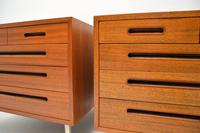 1960's Pair of Vintage Mahogany Chests by Edward Wormley for Dunbar (10 of 12)