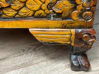 Chinese Camphor Wood Carved Birds & Flowers Chest Coffee Table (32 of 34)