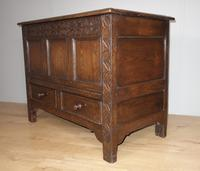 Carved Oak Two Drawer Coffer (5 of 7)