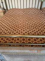 Antique Vintage Retro French Large King Size Patterned Bed Quilt (4 of 10)