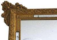 Antique Large Quality 19th Century Italian Gilt Wall Mirror Overmantle (2 of 8)