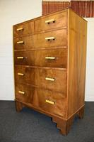 Lovely Walnut Art Deco Chest of Drawers