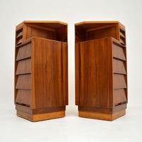 Pair of Vintage 1950's Walnut Bedside Chests (5 of 12)