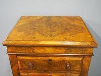 Victorian Burr Walnut Wellington Style Chest (4 of 8)