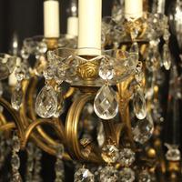Italian Gilt & Crystal 22 Light Antique Chandelier (3 of 8)