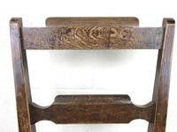 Pair of Welsh Oak Bar Back Farmhouse Chairs (12 of 15)