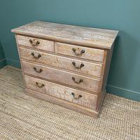 Superb Quality Limed Oak Antique Chest of Drawers (6 of 8)