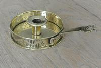 Antique Brass Georgian Style Gallery Chamberstick by Pearson Page Candlestick c.1910 (2 of 6)