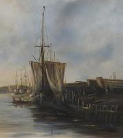 Fishing Vessels Comming Into Harbour by C.m.maskell 1846-1933 (3 of 5)