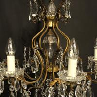 French Gilded 9 Light Birdcage Antique Chandelier (7 of 10)