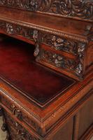 Carved Oak Pedestal Desk (12 of 19)