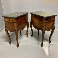 Large Pair of French Rosewood Pot Cupboards