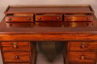 Victorian Mahogany Knee Hole Desk (4 of 8)