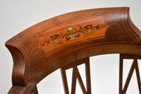 Antique Edwardian  Inlaid Mahogany Corner Chair (4 of 11)
