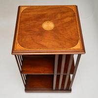 Inlaid Mahogany Revolving Bookcase (4 of 9)
