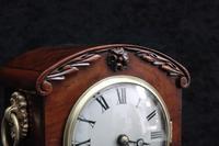 English Late Regency Mahogany Timepiece Mantel Clock (4 of 9)