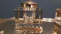 Antique Art Nouveau Brass Double Inkstand (3 of 7)