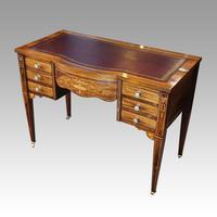 Edwardian Inlaid Rosewood Writing Table (3 of 12)
