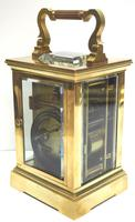 Good Antique French 8-day Carriage Clock Bevelled Case Large Dial & Carry Handle (10 of 13)