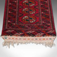 Antique Near Pair, Bokhara Rugs, Turkoman, Tekke, Carpet, Wall Covering, C.1910 (10 of 12)