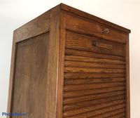 Antique French Tall Filing Cabinet Tambour Roller Shutter (10 of 10)