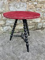 19th Century Gypsy Bobbin Table With Red Felt Top (5 of 5)